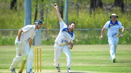 Luke Nixon of Cap Coast Cricket Club in action against The Glen.