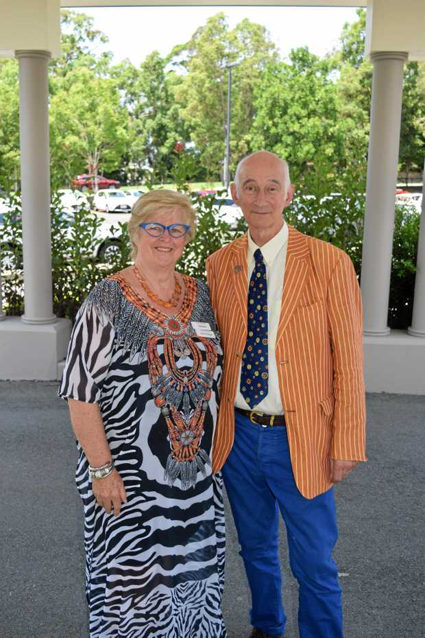 SPECIAL GUEST: Noosa Australian Decorative and Fine Arts Society chairwoman Felicity Mauger with Antiques Roadshow host Paul Atterbury.