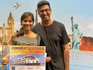 Young couple wins travel expo holiday