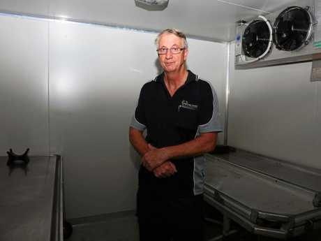 Owner of Whitsunday Funerals and Crematorium, Jeff Boyle, at his Proserpine morgue.