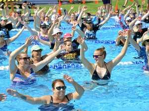 WORLD RECORD: Bundamba aqua aerobic class steals title
