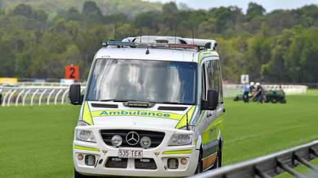A horse died and the rider was taken to hospital during race two at Corbould Park.