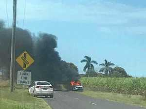 Holiday driver caught up in car blaze