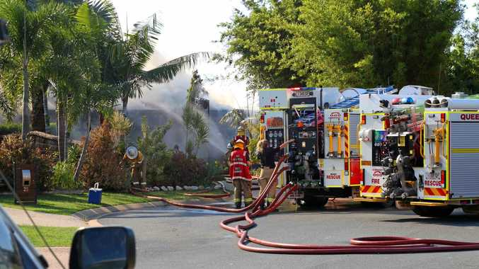 A house fire at Waite Creek Court in Cannonvale has been contained by the Queensland Fire and Rescue Service.