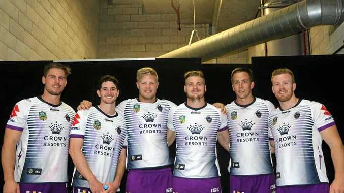 TRIALLISTS: Sunshine Coast Falcons players played with the Storm in an NRL trial against the Warriors. Chris Lewis, Matt Soper-Lawler, Jye Ballinger, Lachlan Roe, Harrison Muller and Jacob Hind.