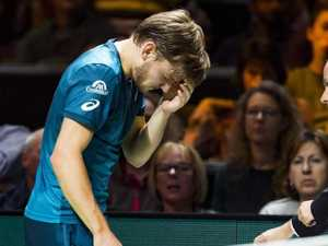 Freak injury forces Goffin to retire