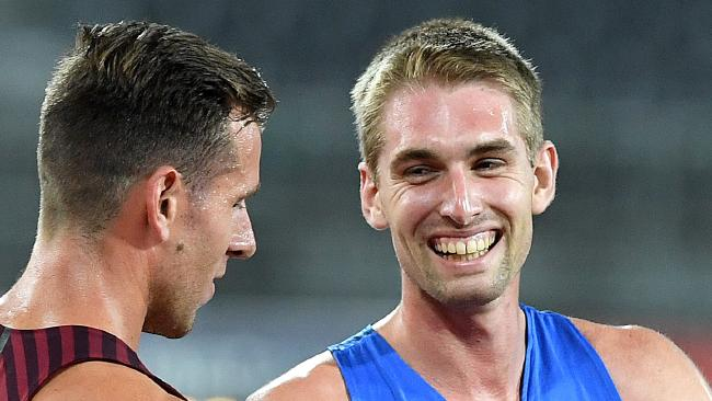 Cedric Dubler after winning the decathlon at the Commonwealth Games trials.
