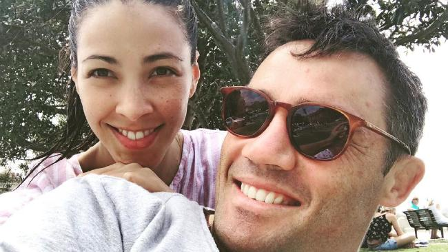 Tara Rushton & husband Cooper Cronk. Picture: Instagram
