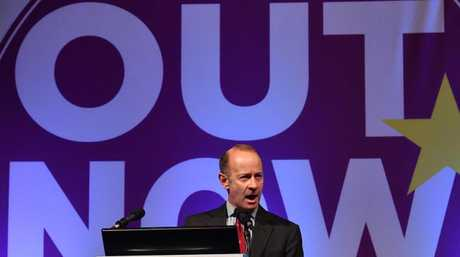 UK Independence Party's leader, Henry Bolton has been ditched in fallout after his 25-year-old partner Jo Marney made racist comments. Picture: AFP