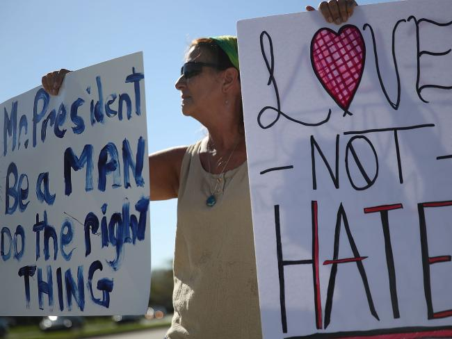 Protester at the anti-gun rally on February 17. Picture: Getty/AFP