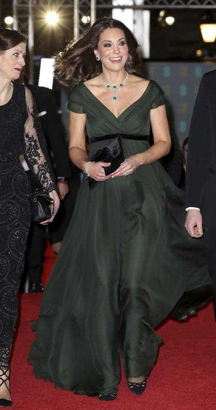 Catherine, Duchess of Cambridge attends the BAFTAs