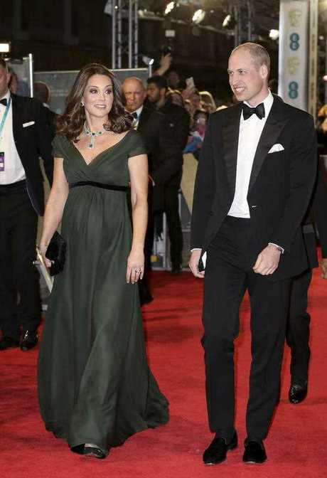The Duchess of Cambridge, glowing in green.