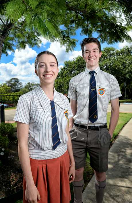 West Moreton Anglican College students Tameka Moss and Alasta Firkins were looking forward to receiving their OP results.