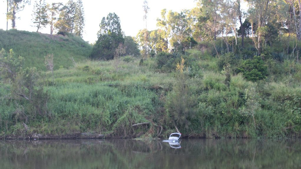 IN DEEP: Police are investigating after a car has landed in the Kolan RIver at Bucca Crossing.