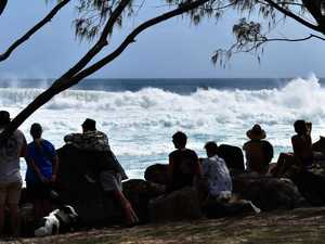 Surfers took advantage of extreme surf conditions at