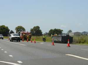 Rubbish truck load on fire in Ulmarra
