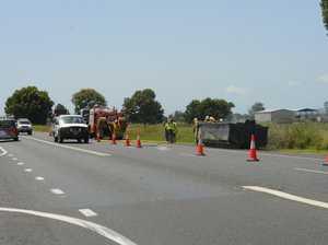 Rubbish truck load on fire in Ulmarra