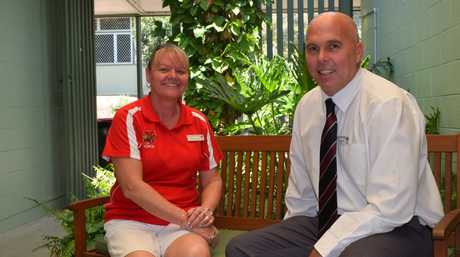 Toolooa State School staff - Tracy Porteous, business teacher and Justin Harrison, acting principal, were excited to see Toolooa ranked as number 17 school on the basis of their OP1-5 students.