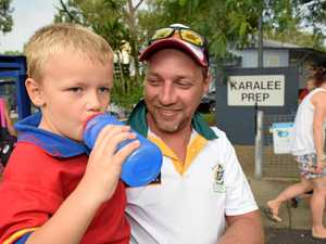 LUCKY ONE: Karalee prep student Wyatt, 5, is one of the lucky children across the Ipswich region. His classroom has air conditioning. Dad Michael says all new school buildings should be built with air conditioning.