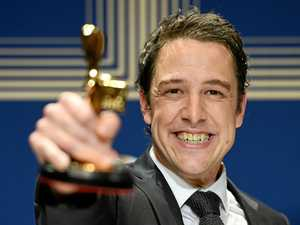 SUPERHERO: Samuel Johnson after winning the Gold Logie during the 2017 Logie Awards.