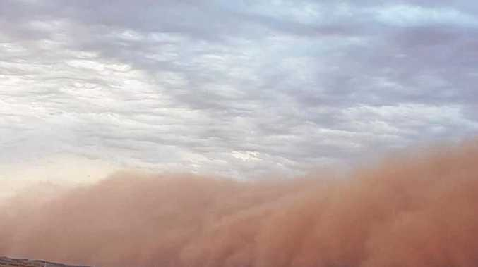 Dust storm captured over the Mundi Mundi Plains.