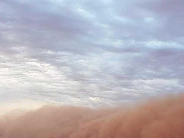 Dust storm captured over the Mundi Mundi Plains.