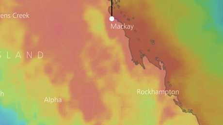 WindyTV shows the rain accumulation over the next 10 days for Mackay, with some parts around Mackay set to receive up to 300mm over the next week and a half.
