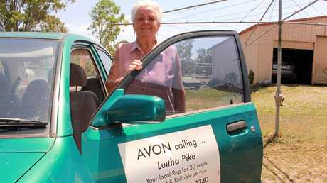 FAREWELL AVON: Mrs Pike's job was made a little easier when she progressed from postie bike to blue Mazda with the tell-tale Avon sticker.