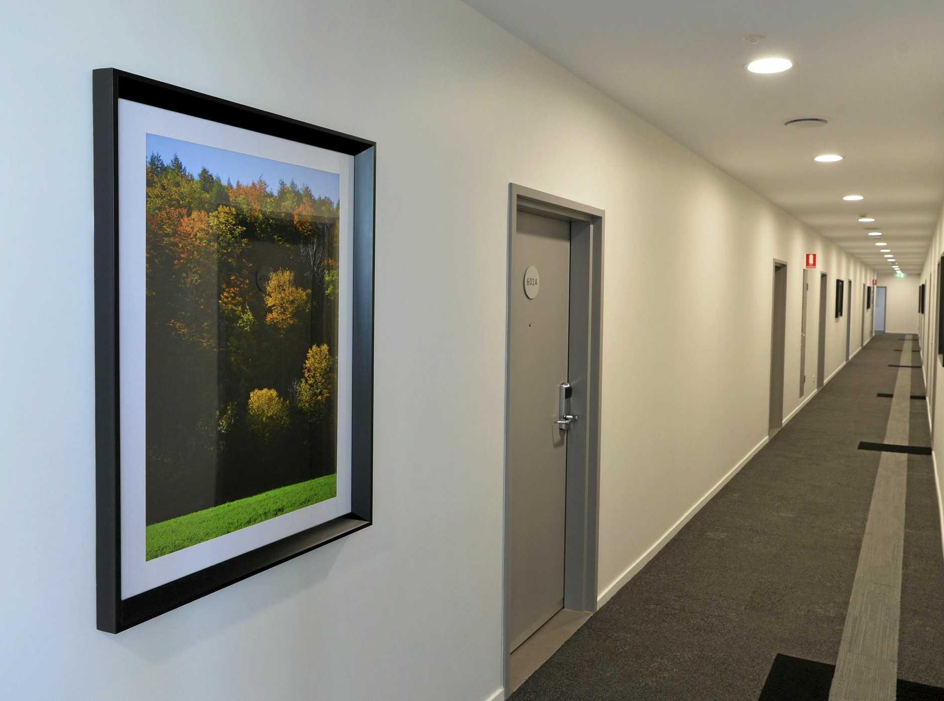 New carpets, paint and art adorns the hallways on each floor.