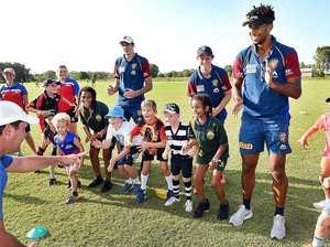 Brisbane Lions make waves in Wide Bay clinic
