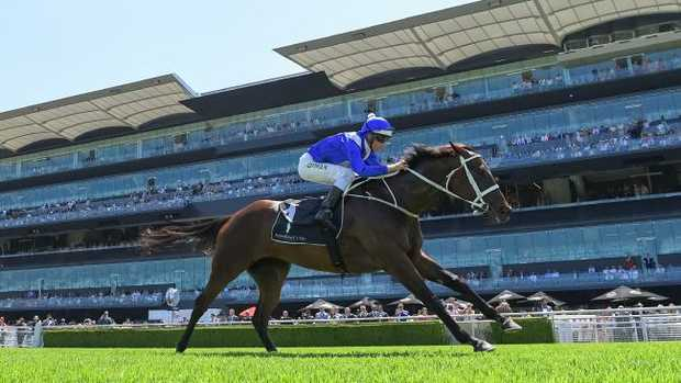 Jockey Hugh Bowman wins a trial race aboard Winx during The Star Chinese Festival of Racing at Randwick Racecourse in Sydney, Saturday, February 17, 2018. (AAP Image/Rafal Kontrym) NO ARCHIVING, EDITORIAL USE ONLY