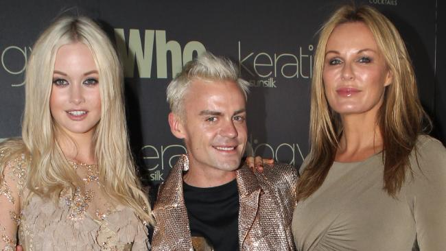 Simone Holtznagel, Josh Flinn and Charlotte Dawson at the launch of Who Magazine's 2011 Sexiest People issue. Source: News Corp Australia
