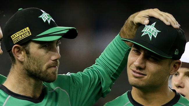 Marcus Stoinis (R) could be headed to Brisbane in a major BBL shake-up.