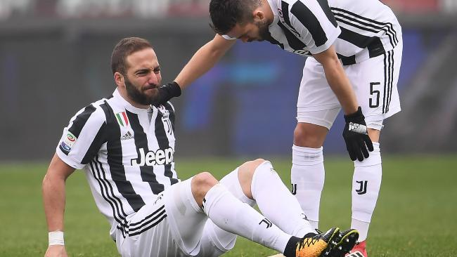 Juventus' forward Gonzalo Higuain.