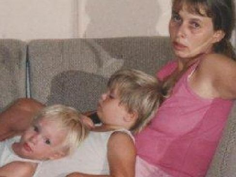 Judy Sharp with her two sons while she was still in the abusive relationship. Picture: Facebook/TimSharp