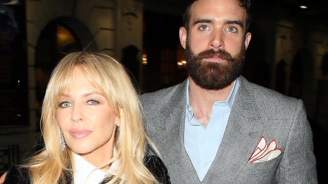 Kylie Minogue and Joshua Sasse split in February last year causing Minogue a 'nervous breakdown'. Picture: Mark Milan/GC Images