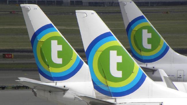 A Transavia flight made an emergency landing after a fight broke out over a passenger's flatulence.