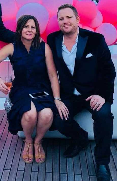 Natalie Joyce made her first public appearance since the fallout at a birthday bash alongside Michael Kauter. Picture: Supplied/Facebook