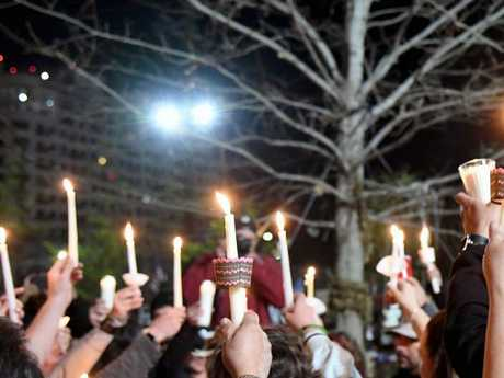 Vigils for the victims of the Florida shooting were held all over the US over the weekend. Picture: Ethan Miller/Getty Images/AFP