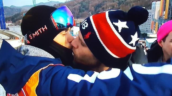 Gus Kenworthy and boyfriend Matt Wilkas shared a special moment in PyeongChang.