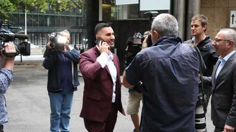 Salim Mehajer leaves Day St Police station just before the alleged incident.