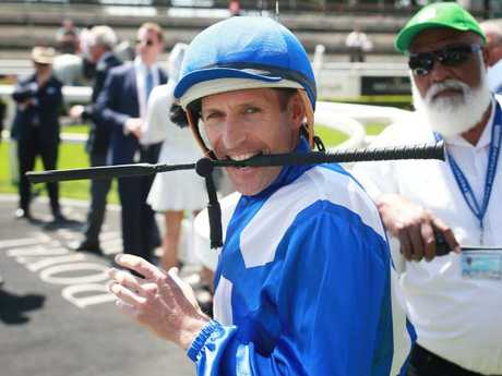 Hugh Bowman prepares to ride Winx on Apollo Stakes Day. Picture: Getty Images