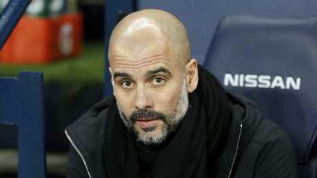 Manchester City manager Pep Guardiola. (Martin Rickett/PA via AP)