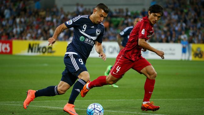 Kosta Barbarouses, and Melbourne Victory, are already familiar with Shanghai SIPG after playing against them twice in 2016. Picture: George Salpigtidis
