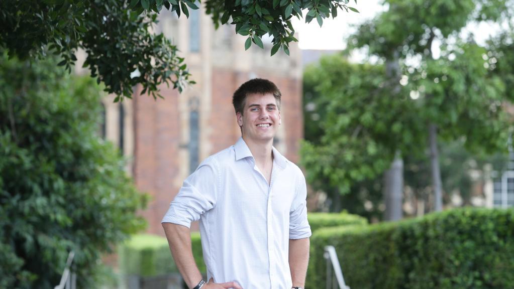 Brisbane Grammar School graduate Joshua Grice, 18. Picture: AAP/ Ric Frearson