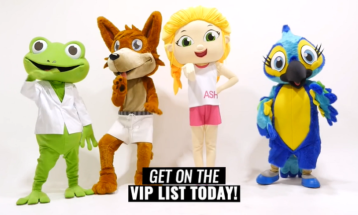 Just some of the characters from the 'Ashy and Friends' live show and animated series. Image: Vimeo