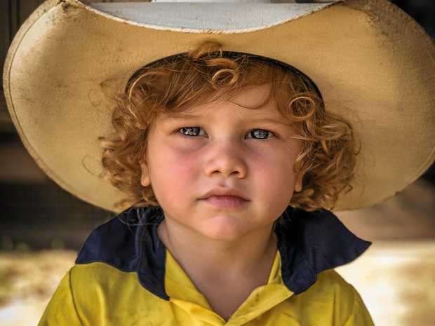 WINNER: Three-year-old Cale Blomley is the winner of the Bush Kids baby competition. Cale lives with his six brothers and sisters at Humpty Doo in the Northern Territory.