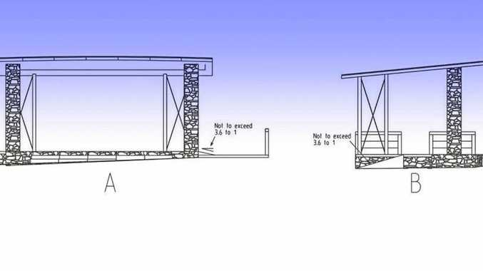 NEW STAGE: Preliminary blueprints for the new stage on Millennium Esplanade.