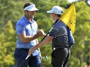 Ben inspired by Josh's PGA gesture