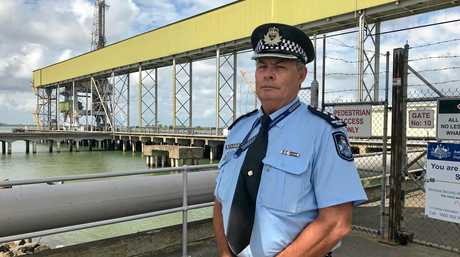 RECOVERY: Inspector Pat Swindells fronted media today after the sunken trawler Dianne was towed into Bundaberg.